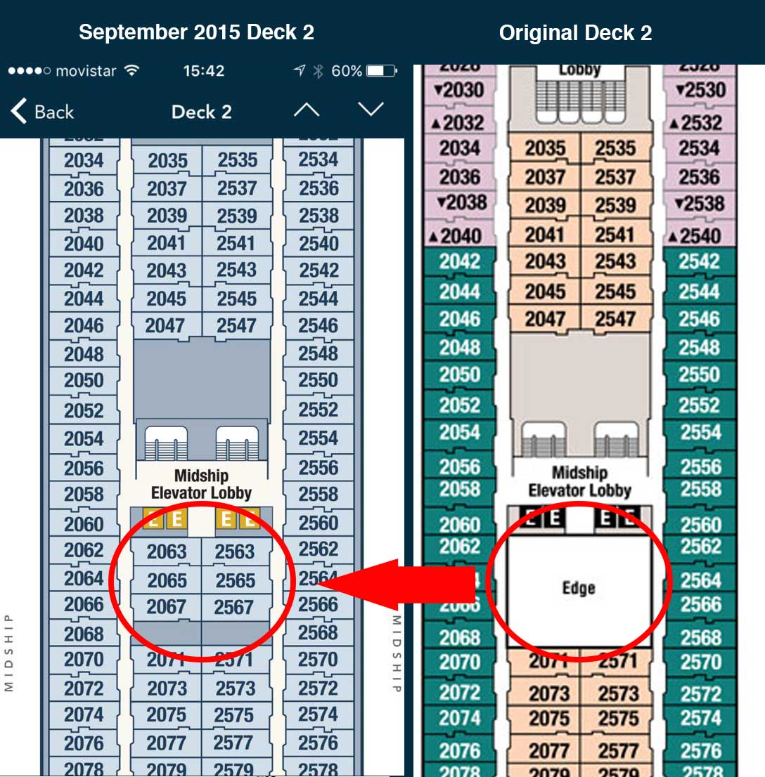 First look at the 2015 disney magic dry dock updates the disney magic 2015 dry dock deck 2 new staterooms baanklon Gallery