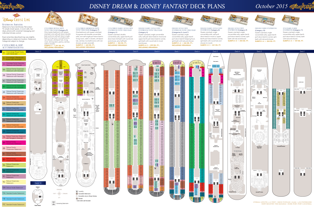 DCL Deck Plans Dream Fantasy October 2015