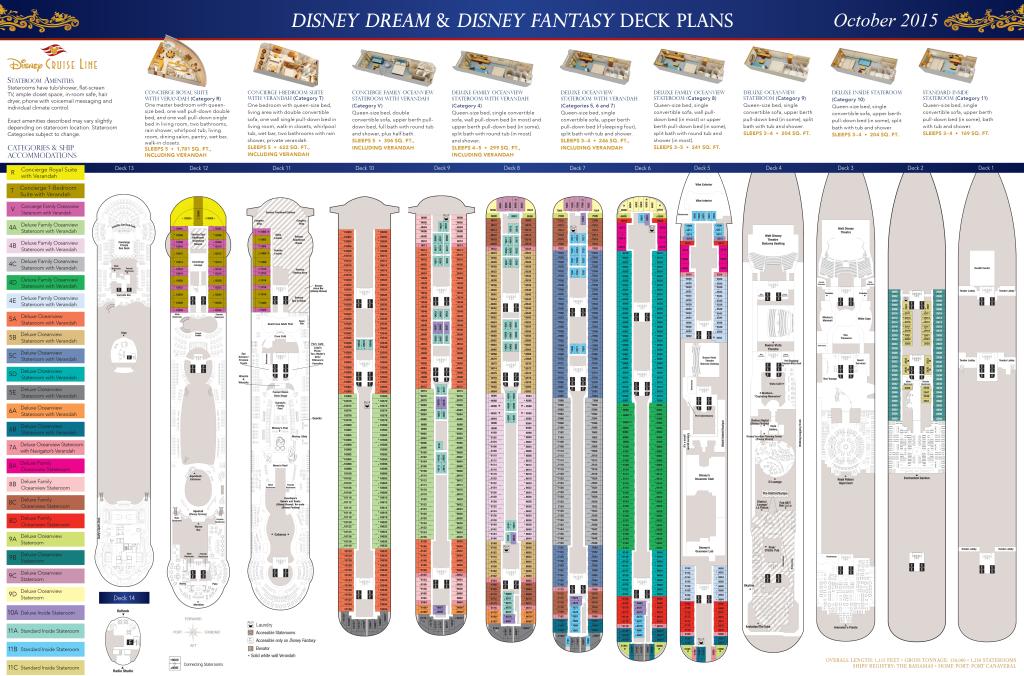 Deck Plans Disney Dream Amp Disney Fantasy The Disney