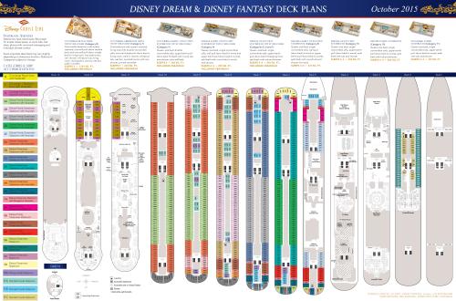 DCL Deck Plans Dream Fantasy October 2015