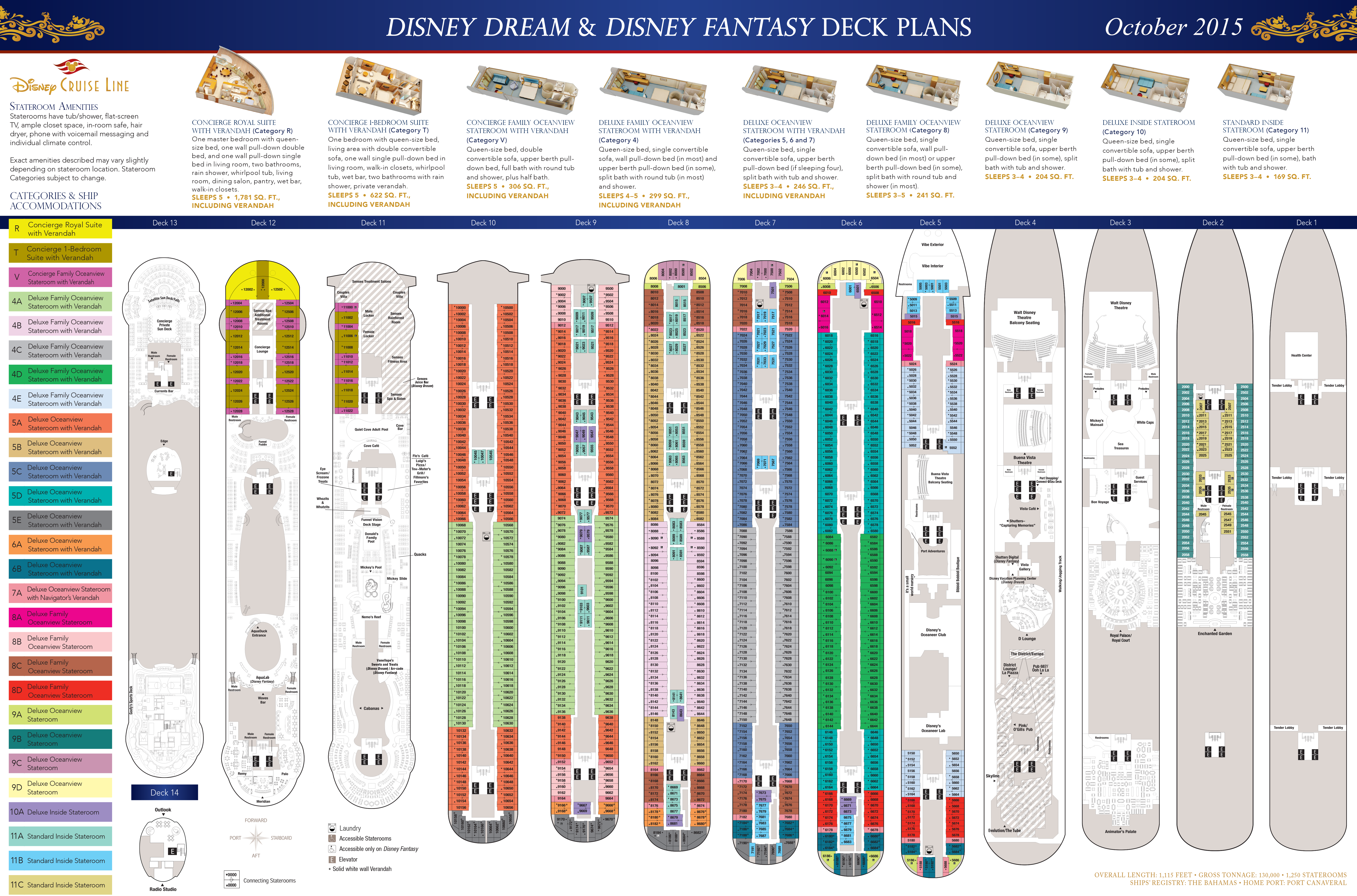 Celebrity Solstice Floor Plan Deck Plans Disney Dream Amp Disney Fantasy The Disney