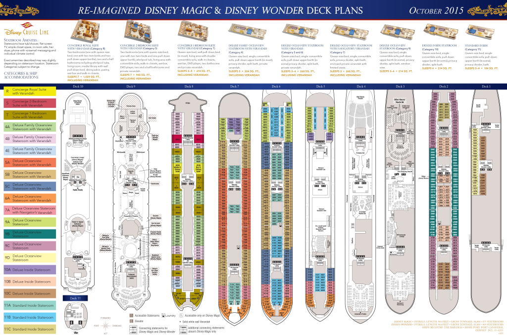 DCL Deck Plans Magic Wonder October 2015