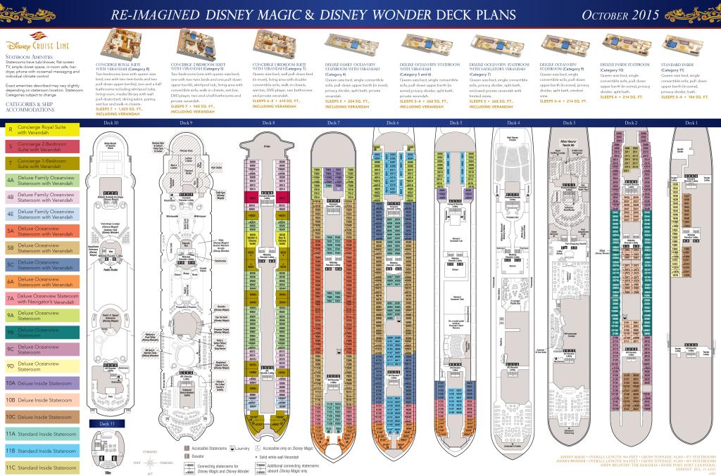 DCL Deck Plans Magic Wonder October 2015