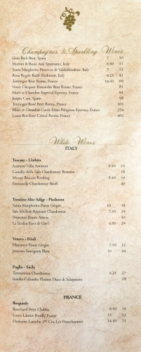 Disney Magic MDR Wine Menu A July 2015