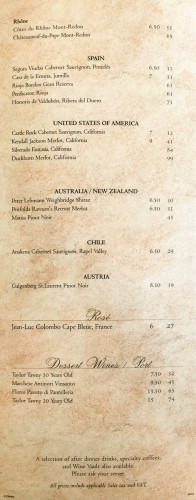 Disney Magic MDR Wine Menu C July 2015