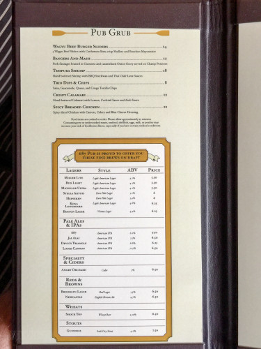 The District 687 Menu A Disney Dream October 2015