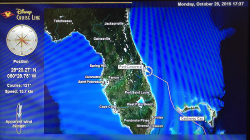 Stateroom TV Map Day 1 Port Canaveral