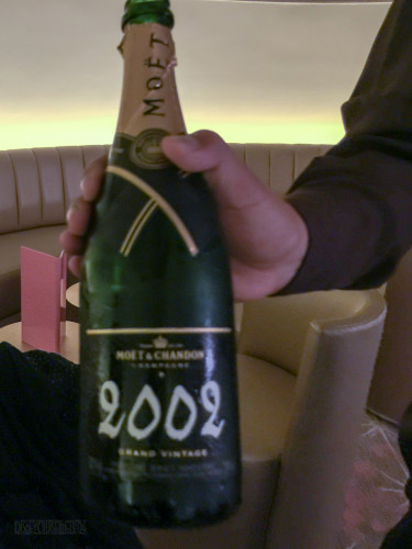 Pink Moet Vintage 2002 Bottle