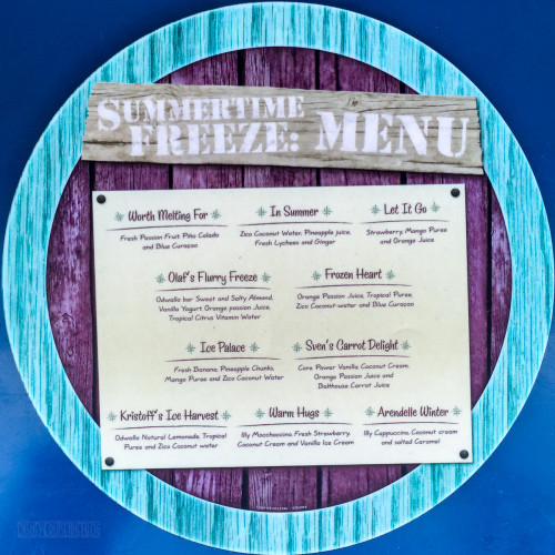 Summertime Freeze Circular Menu