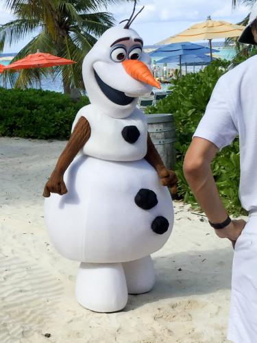 Olaf At Castaway Cay