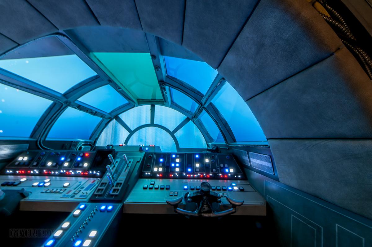 Displaying images for millenium falcon cockpit wallpaper - Star Wars Millenium Falcon Cockpit Oceaneer Club Disney Dream