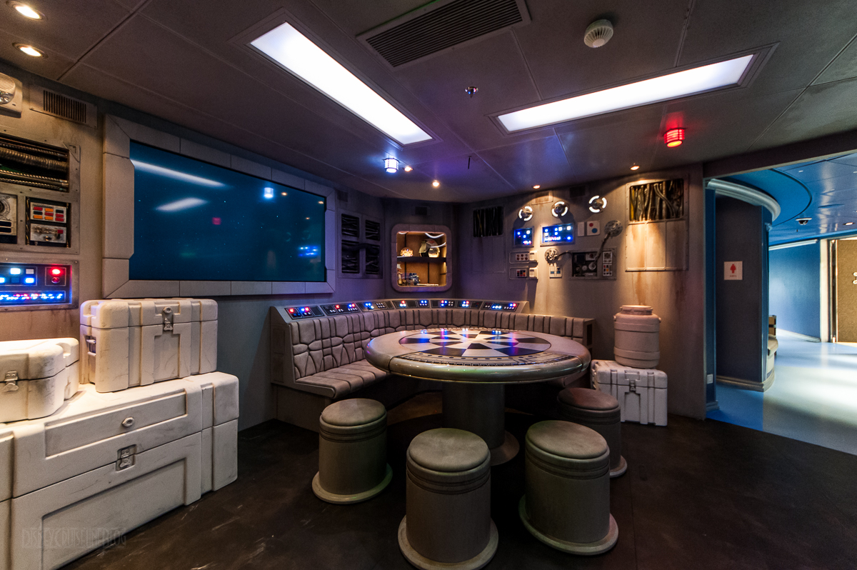 First Look At The New Disney Dream Star Wars Millennium Falcon In The Oceaneer Club The Disney Cruise Line Blog