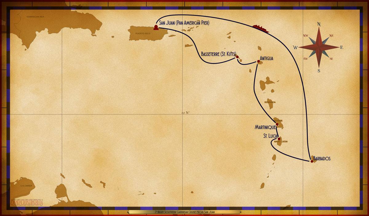 Map Magic 7 Night Southern Caribbean Itinerary B San Juan