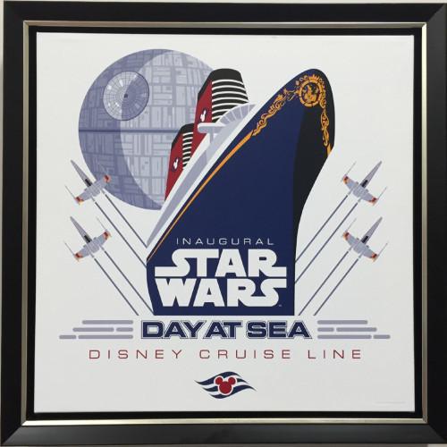 SWDAS Item 16 STAR WARS Day At Sea Framed Giclee By John Henselmeier