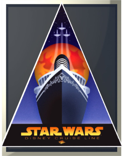 SWDAS Item 2 Vintage Ship Triangle Poster Limited Edition Pin
