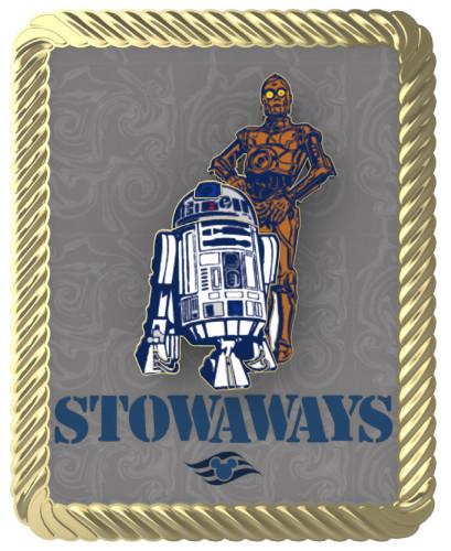 SWDAS Item 23 C 3PO & R2D2 Stowaways PIN