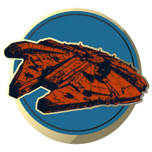 SWDAS Item 6 Rebel Alliance Ships Two On A Card Limited Edition Pin Millennium Falcon
