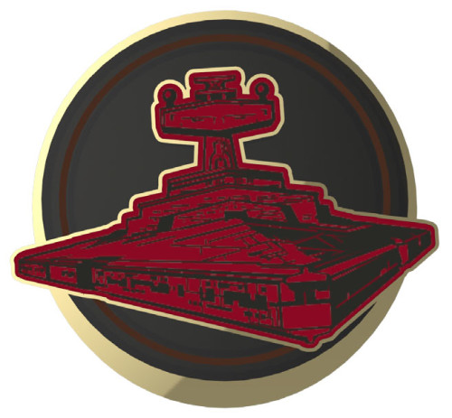SWDAS Item 7 Imperial Empire Ships Two On A Card Limited Edition Pin Inperial Star Destroyer