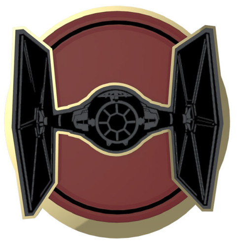 SWDAS Item 7 Imperial Empire Ships Two On A Card Limited Edition Pin TIE Fighter