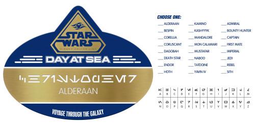 SWDAS Item 78 STAR WARS Day At Sea NAME BADGE