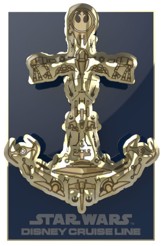 SWDAS Item 8 3D Sculpted Anchor Limited Edition Pin