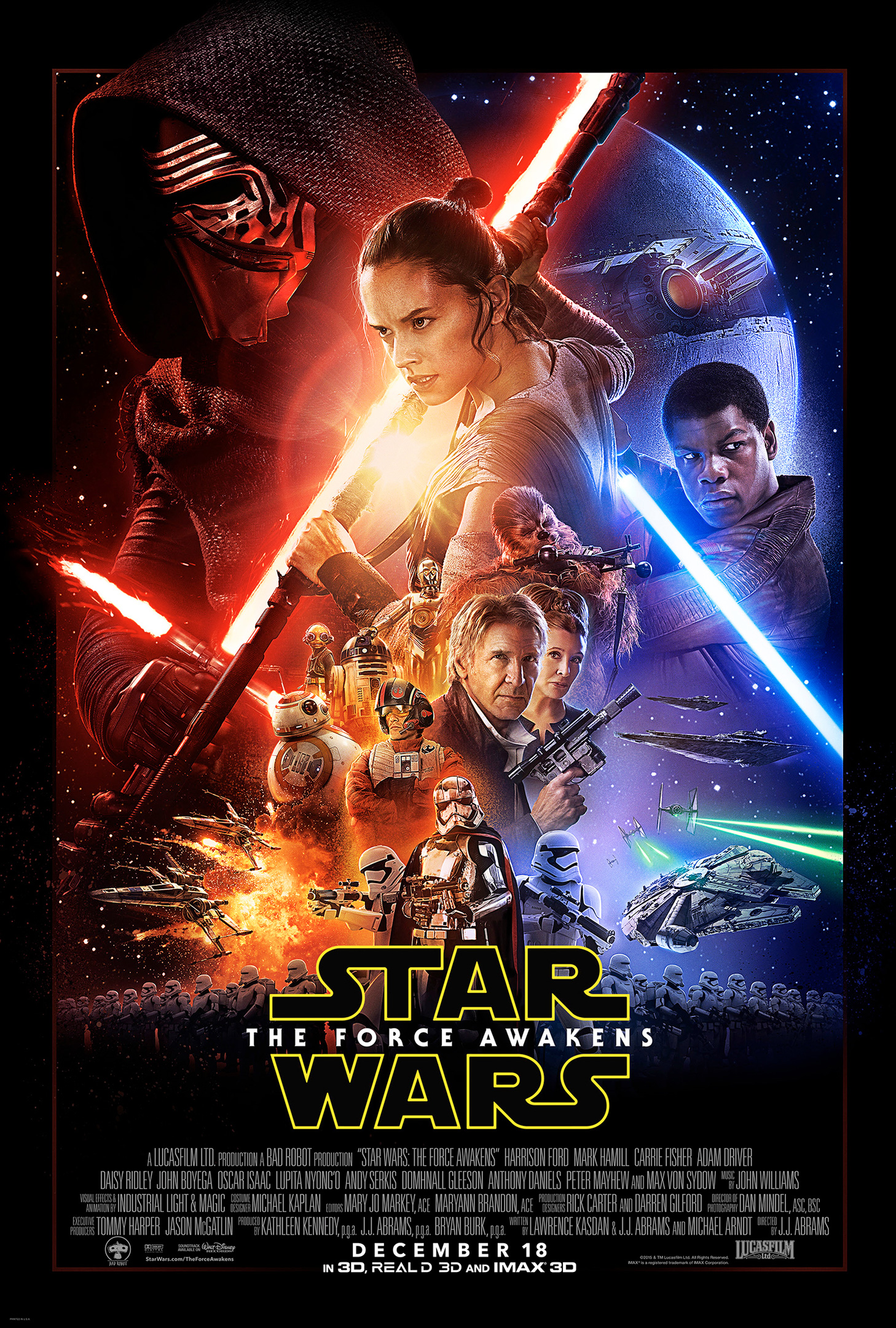 Star Wars Episode 7 The Force Awakens Official Movie Poster