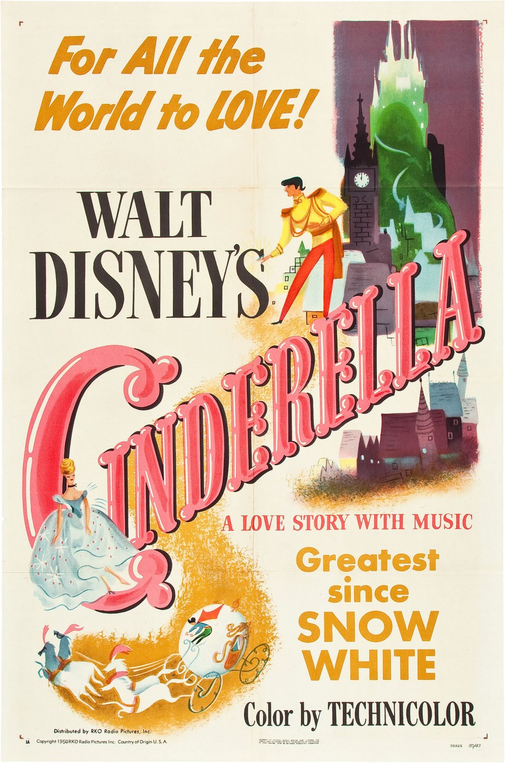 Cinderella 1950 Movie Poster