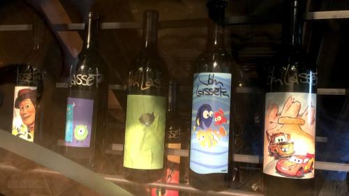 Remy Lasseter Pixar Wine Bottles 1