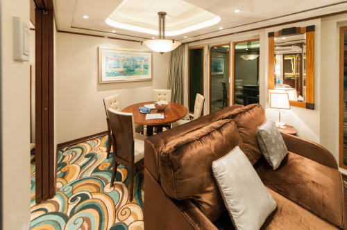 1 Bedroom Concierge Stateroom Sitting Area