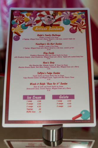 Vanellope's Disney Dream Menu