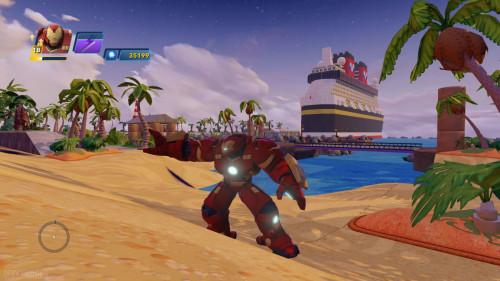 Disney Infinity DCL Castaway Cay Toy Box Hulkbuster Ship Island
