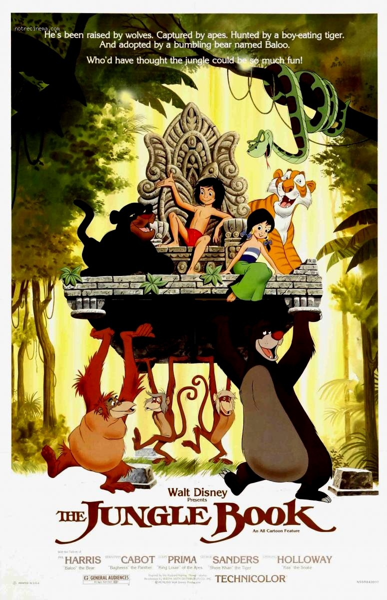 The Jungle Book 1967 Movie Poster