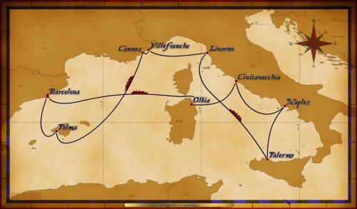 Map Magic 12 Night Mediterranean Cruise 2016