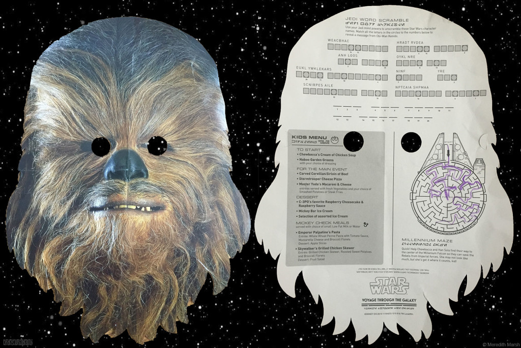 Star Wars Kids Menu Chewbacca