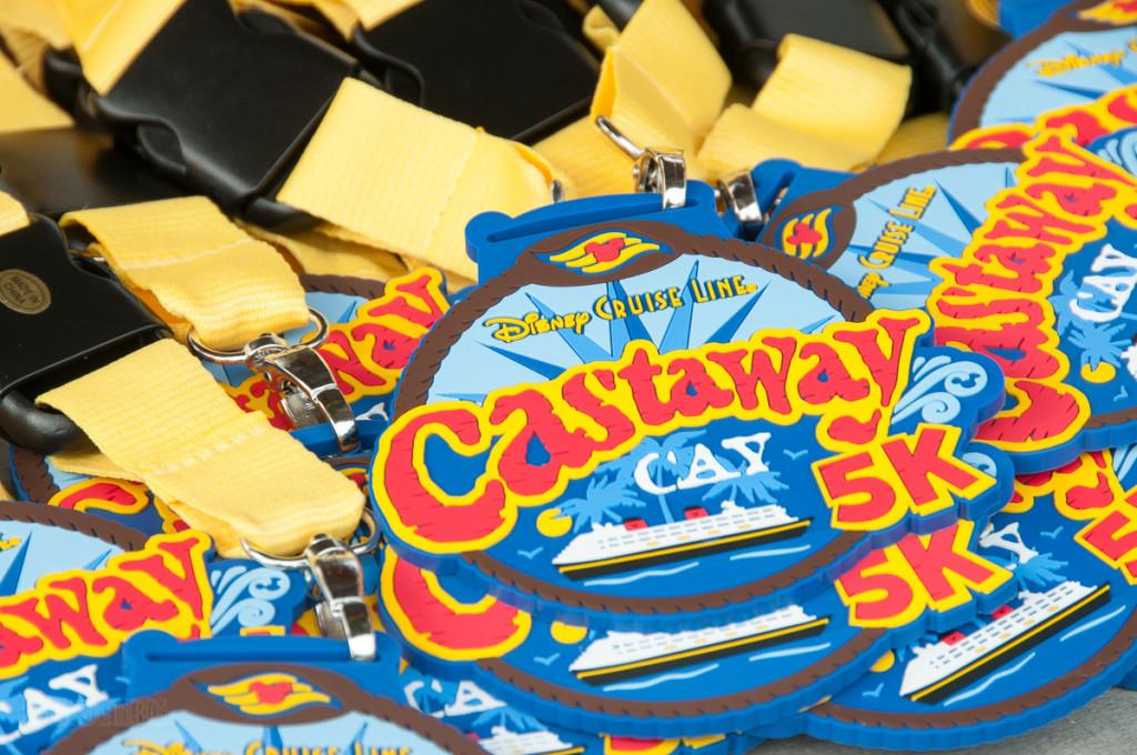 Castaway Cay 5k Rubber Medals