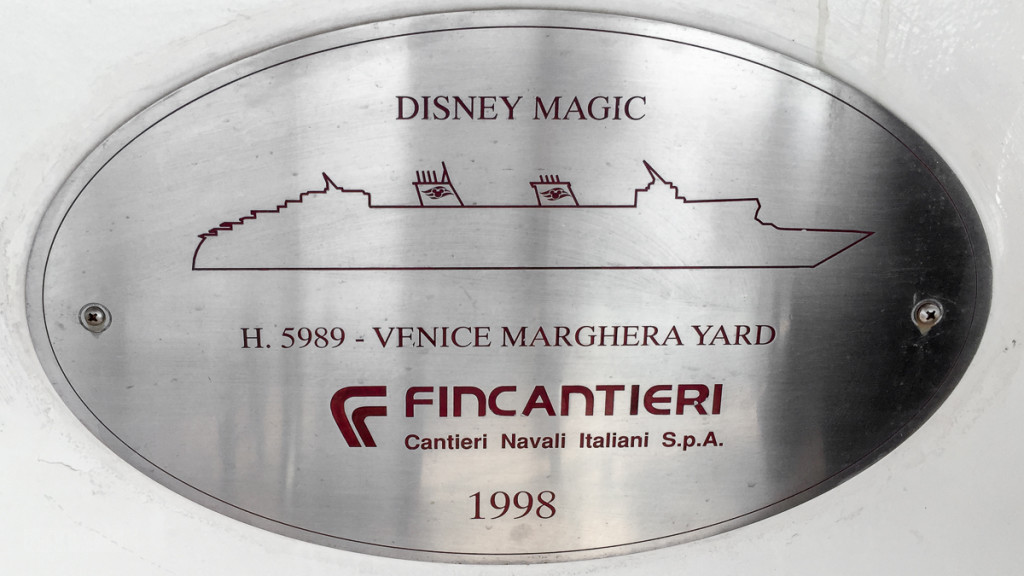 Disney Magic Fincantieri Name Plate Hull Number 5989