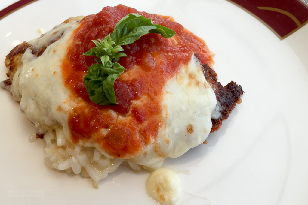 Disney Magic Palo Brunch Chicken Parmesan