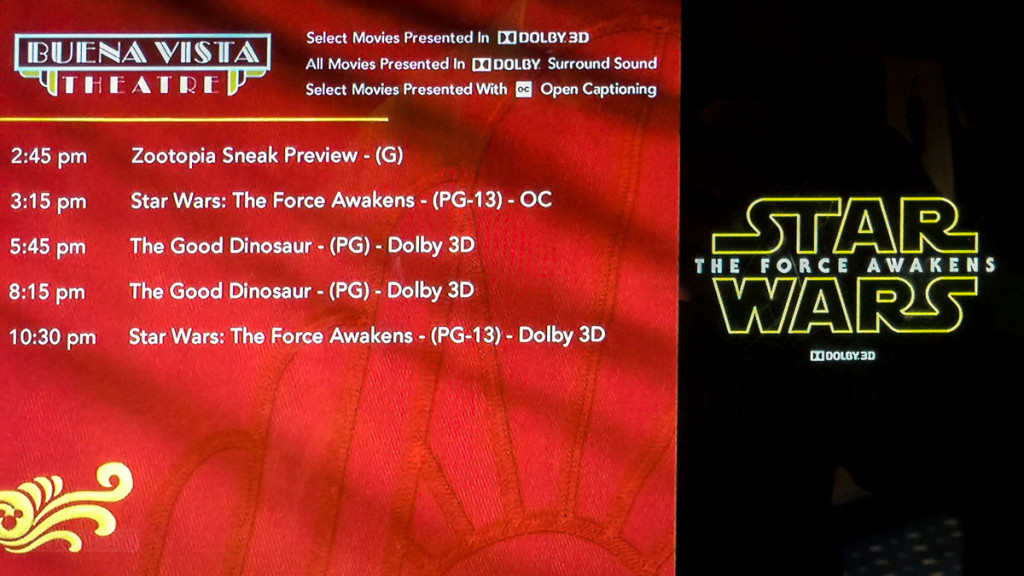 Star Wars The Force Awakens Buena Vista Theatre