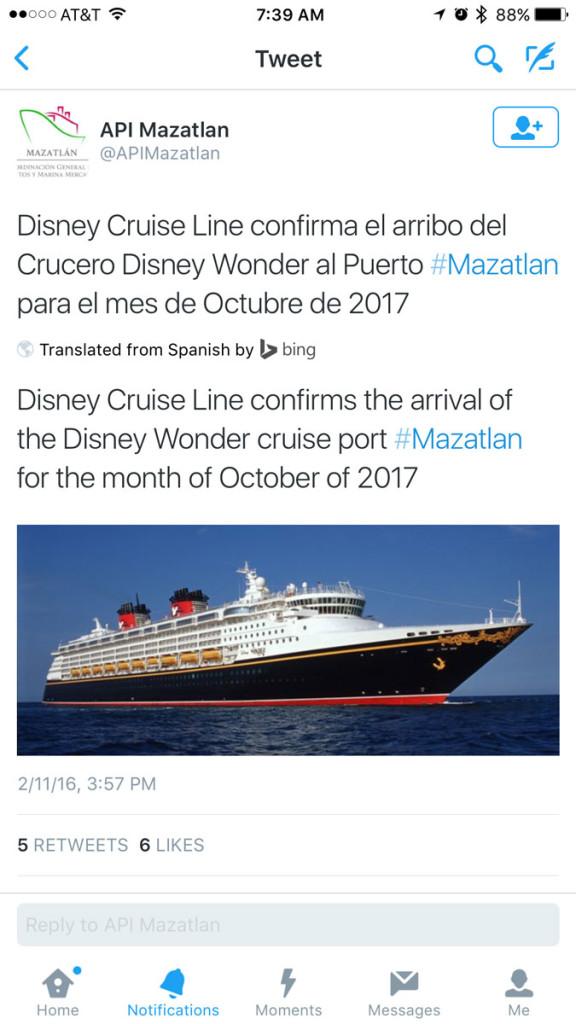 Mazatlan Returns Wonder Tweet 20160211