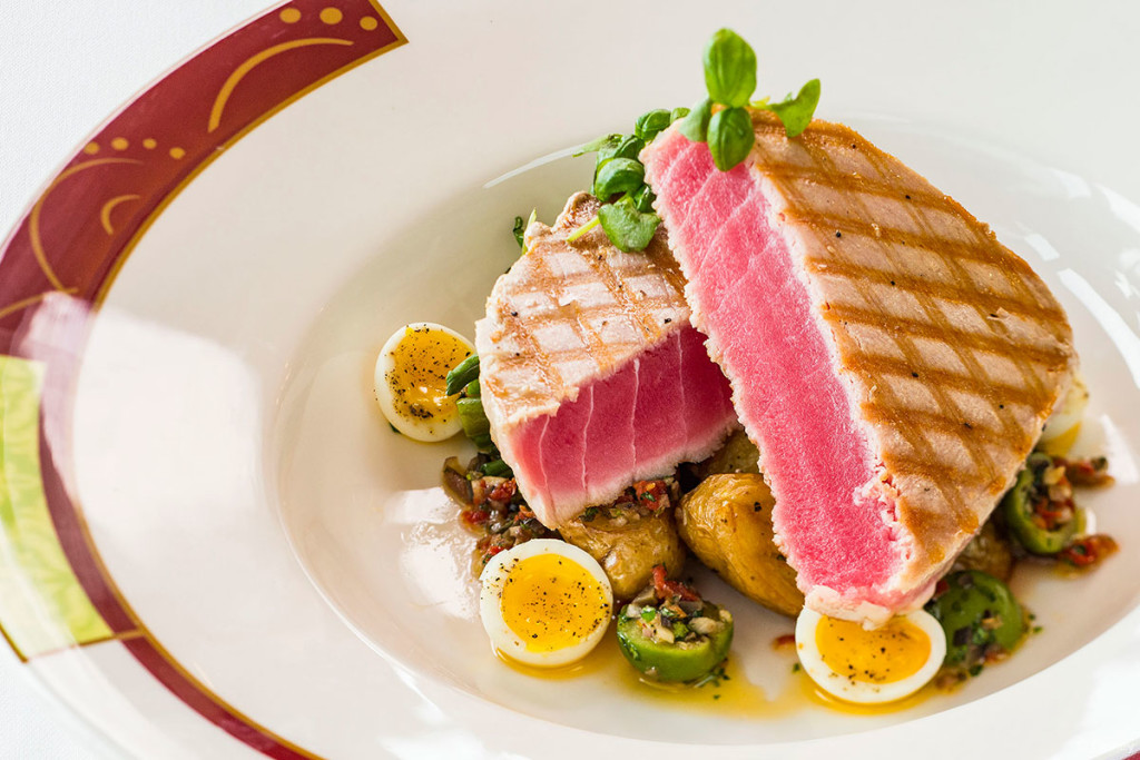 Palo Dinner Menu – Ahi Tuna Steak