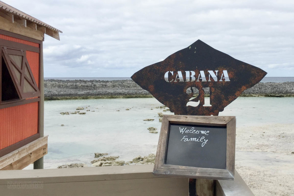 Castaway Cay Cabana 21 Welcome Sign