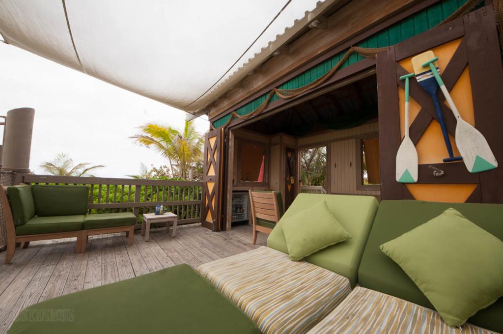 Castaway Cay Cabana 9 Lounger View