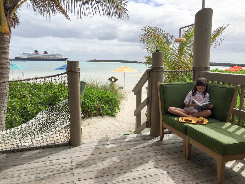 Castaway Cay Cabana 9 Lunch Reading