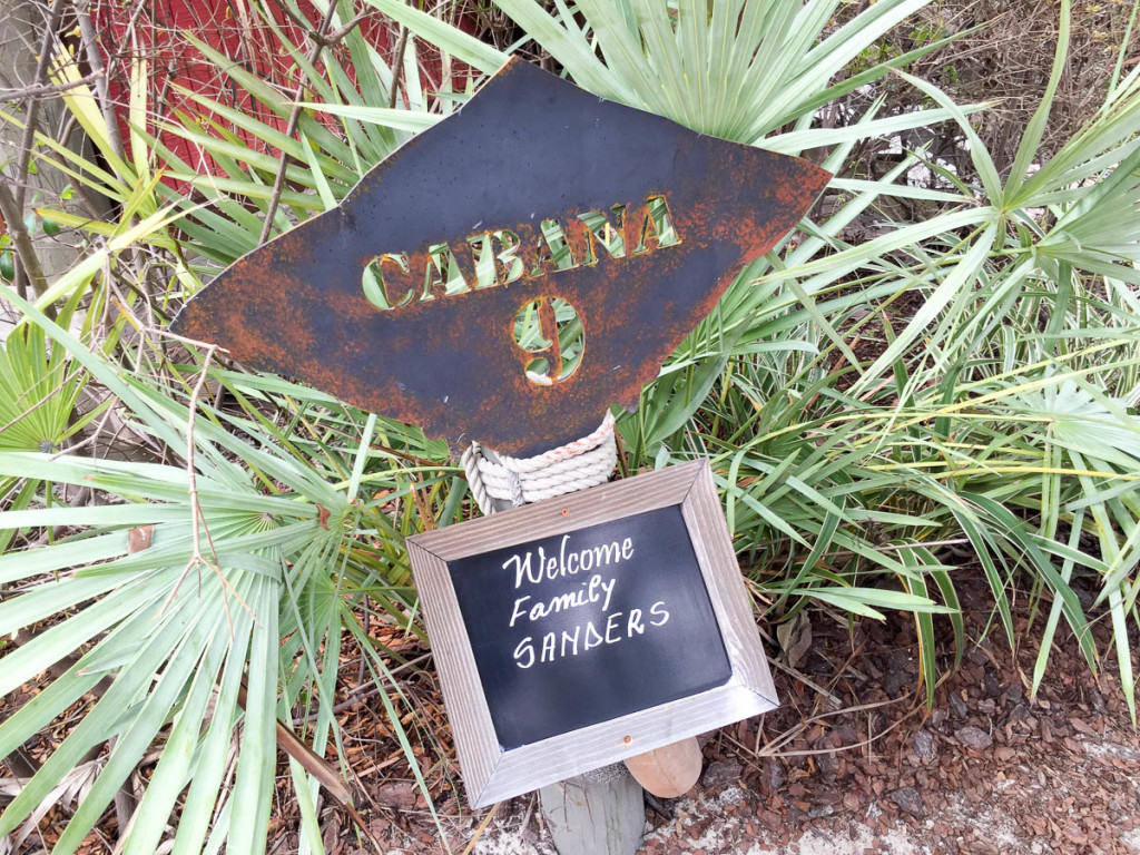 Castaway Cay Cabana 9 Welcome Sanders Family Stingray Sign