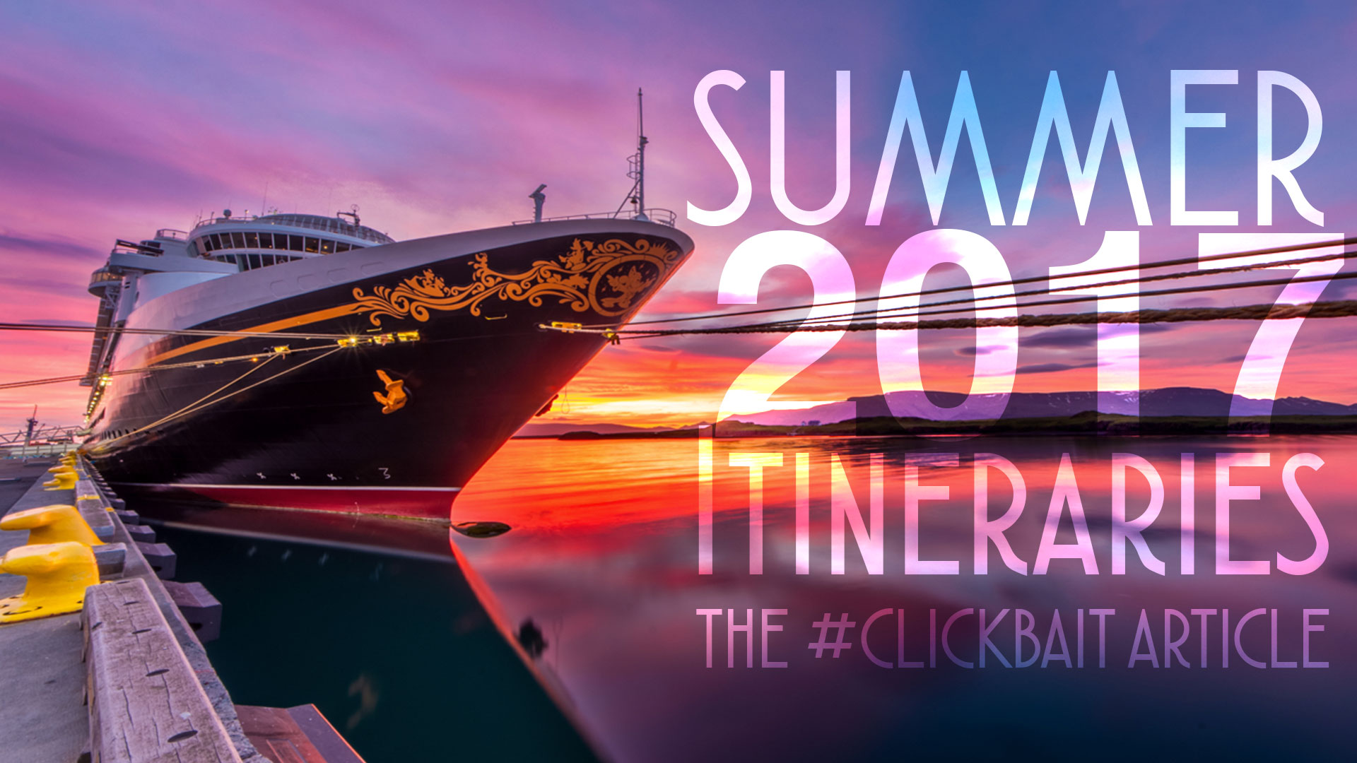 Summer 2017 Itineraries the #Clickbait Article • The ...
