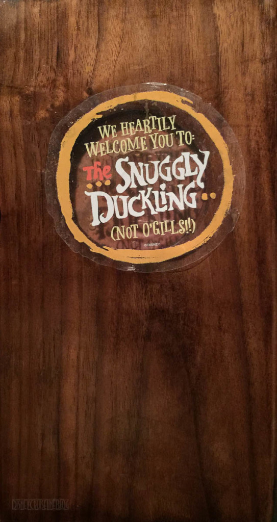The Snuggly Duckling Not O'Gills Menu Cover