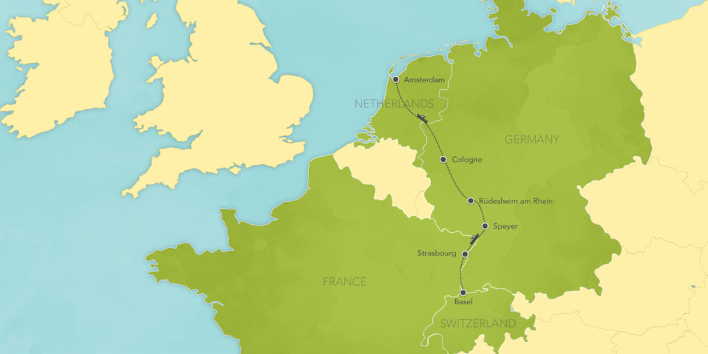 ABD Rhine River Cruise Map