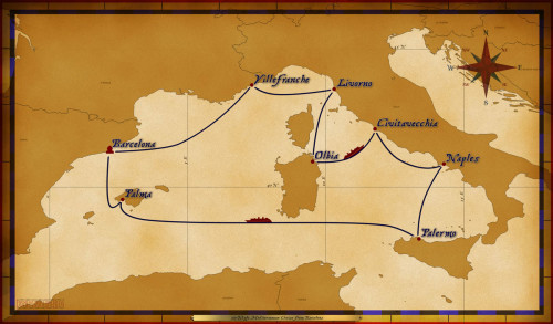 Map Magic 10 Night Mediterranean Cruise