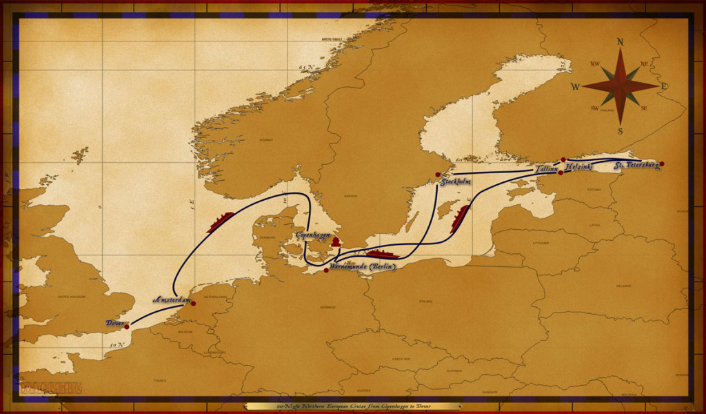 Map Magic 10 Night Northern European Itinerary