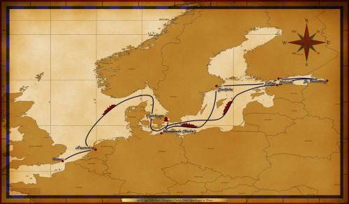 Map Magic 10 Night Northern European Itinerary
